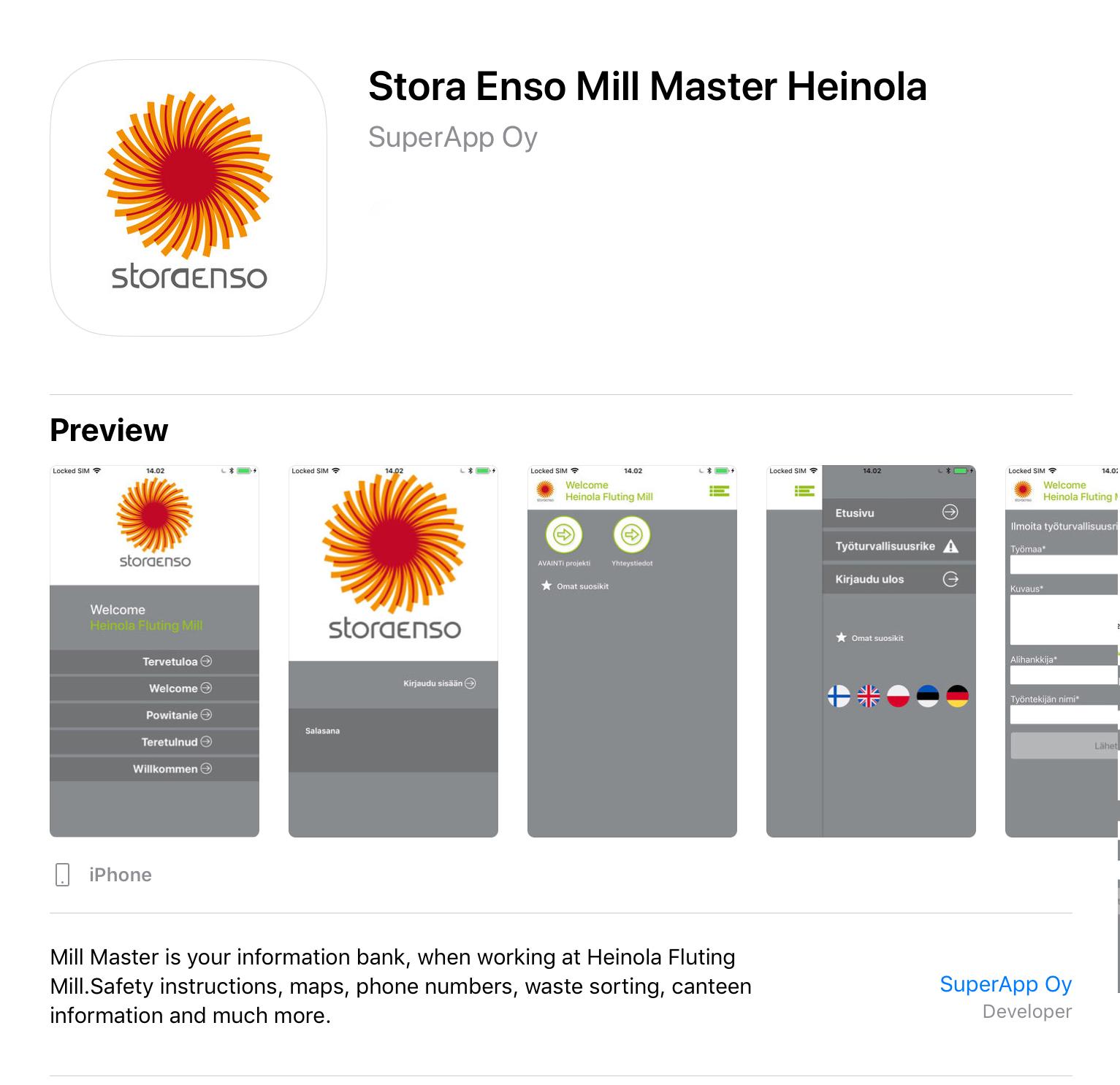 Stora Enso - SuperApp